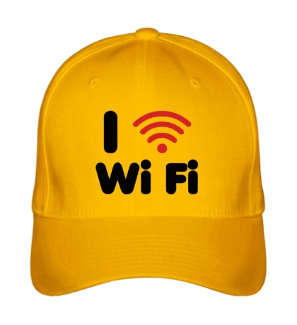 Бейсболка I love Wi Fi