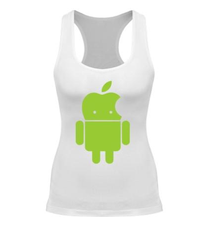 Женская борцовка Андроид яблокоголовый