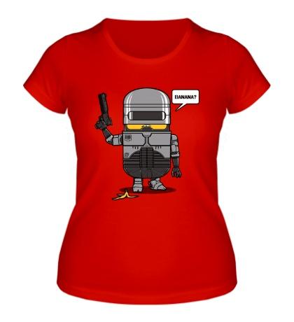 Женская футболка Робокоп миньон
