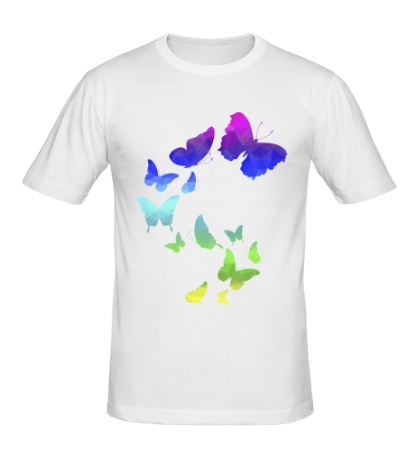 Мужская футболка Влюбленные бабочки