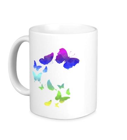 Керамическая кружка Влюбленные бабочки