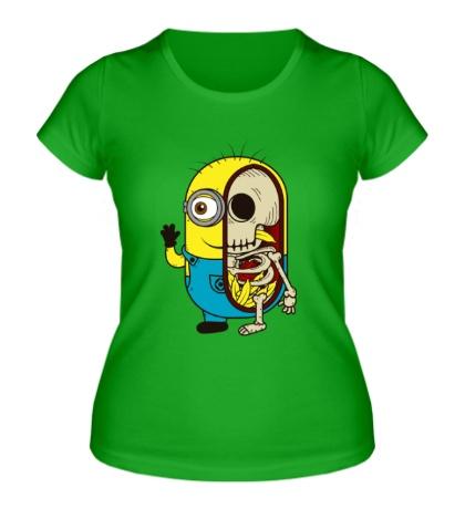 Женская футболка Миньон в разрезе