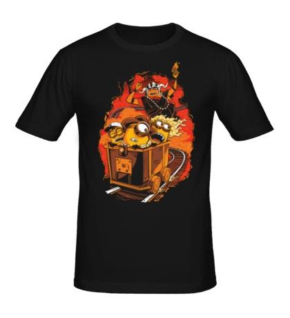 Мужская футболка Утиные миньоны