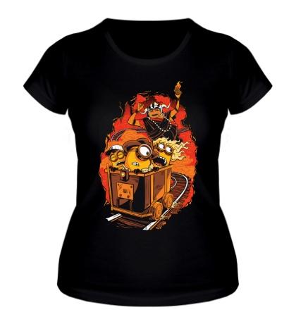 Женская футболка Утиные миньоны