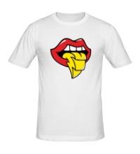 Мужская футболка Губы и язык
