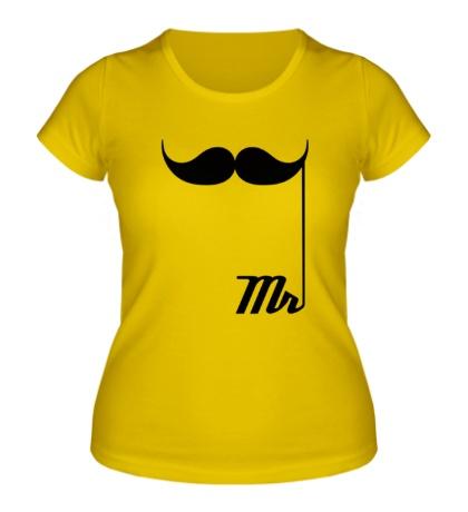Женская футболка Мистер усы