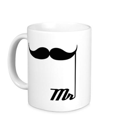 Керамическая кружка Мистер усы
