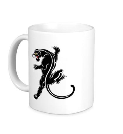 Керамическая кружка Черная пантера