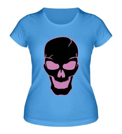 Женская футболка Страшный череп