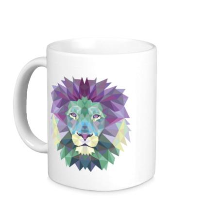 Керамическая кружка Винтажный лев