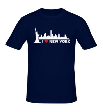 Мужская футболка Панорама Нью Йорка