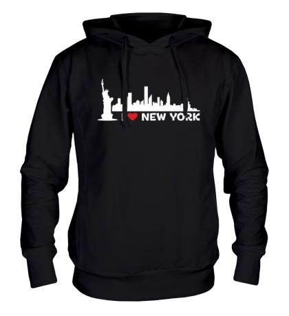 Толстовка с капюшоном Панорама Нью Йорка