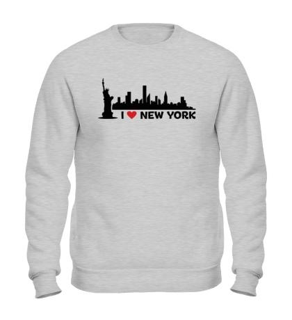 Свитшот Панорама Нью Йорка
