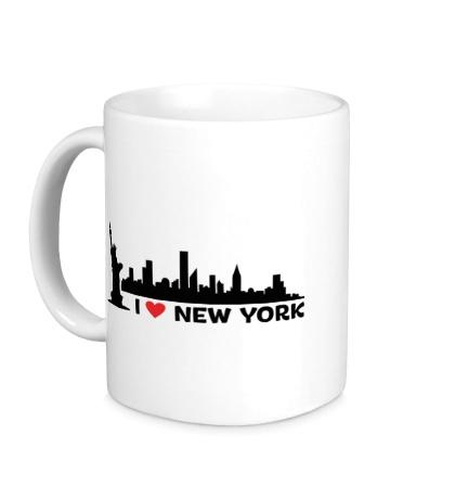 Керамическая кружка Панорама Нью Йорка