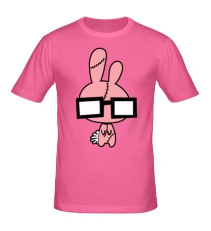 Мужская футболка Заяц в очках