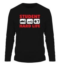 Мужской лонгслив Student Hard Life