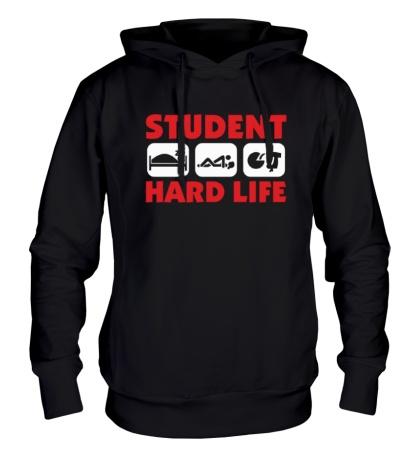 Толстовка с капюшоном Student Hard Life