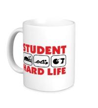 Керамическая кружка Student Hard Life