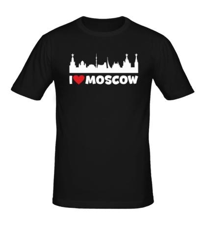 Мужская футболка Я люблю тебя, Москва