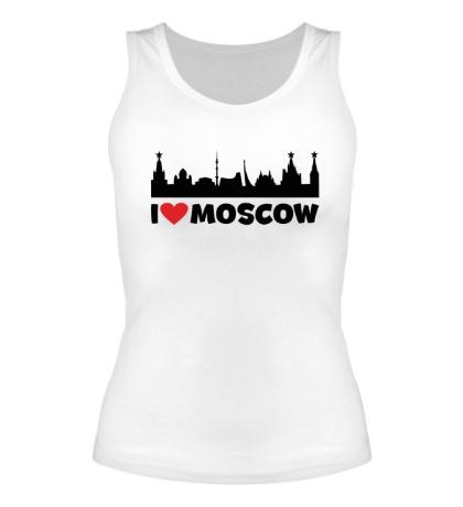 Женская майка Я люблю тебя, Москва
