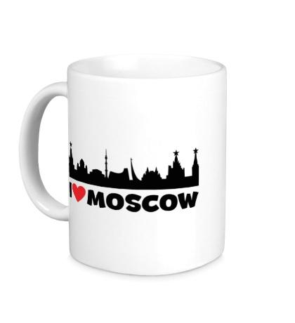 Керамическая кружка Я люблю тебя, Москва