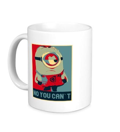 Керамическая кружка Minion, No you cant