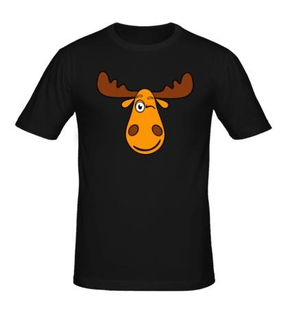Мужская футболка Подмигивающий лось