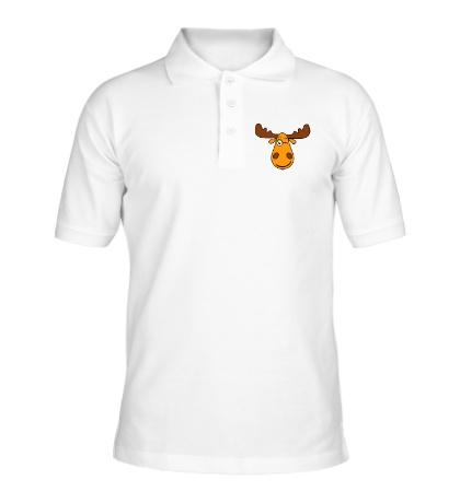 Рубашка поло Подмигивающий лось