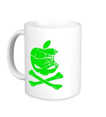 Керамическая кружка Apple Skull