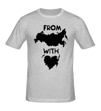 Мужская футболка From Russia with love