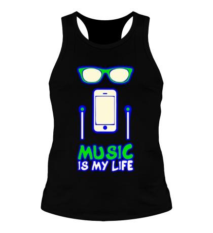 Мужская борцовка Music is my Life Glow