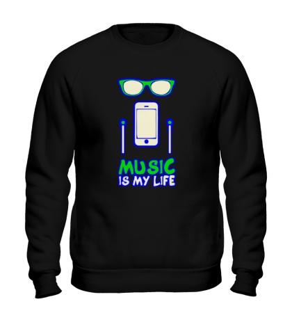 Свитшот Music is my Life Glow
