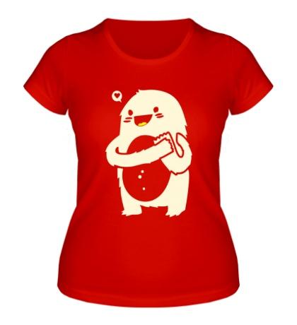 Женская футболка Влюбленное чудовище