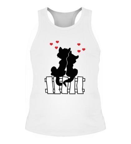 Мужская борцовка Влюбленные котики