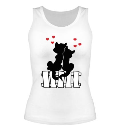 Женская майка Влюбленные котики