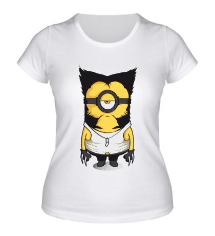 Женская футболка Миньон Росомаха