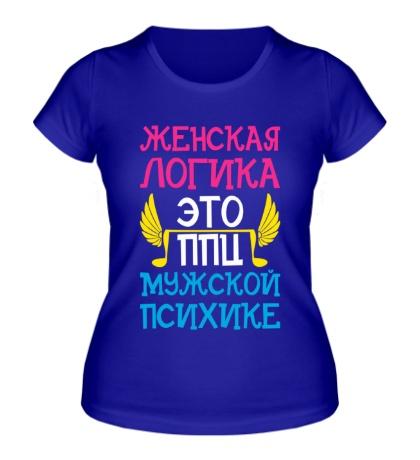Женская футболка Женская логика