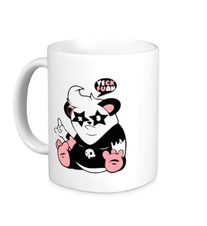 Керамическая кружка Панда поп-звезда