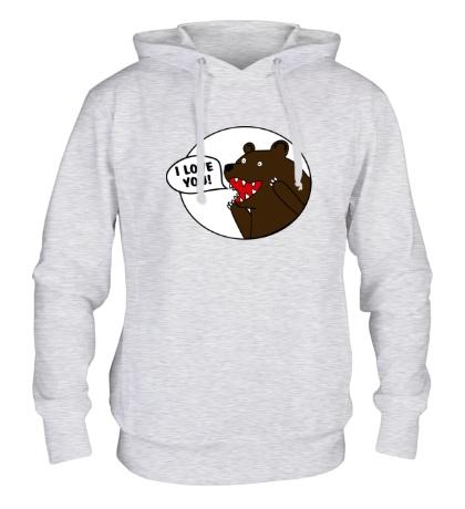 Толстовка с капюшоном Bear I love you