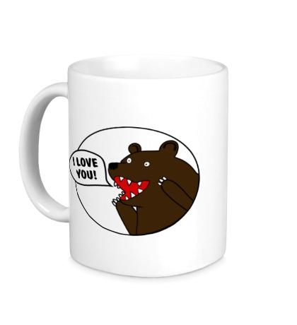 Керамическая кружка Bear I love you