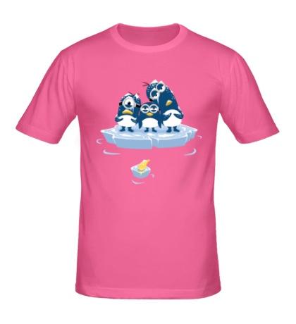 Мужская футболка Миньоны Пингвины