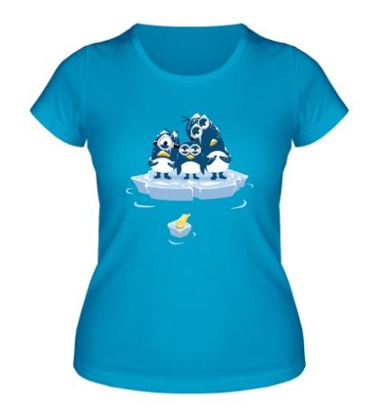 Женская футболка Миньоны Пингвины