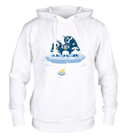 Толстовка с капюшоном Миньоны Пингвины