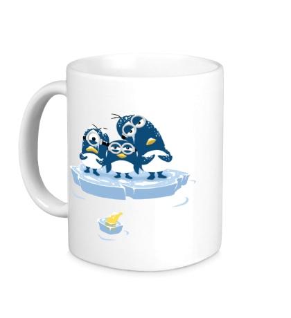 Керамическая кружка Миньоны Пингвины