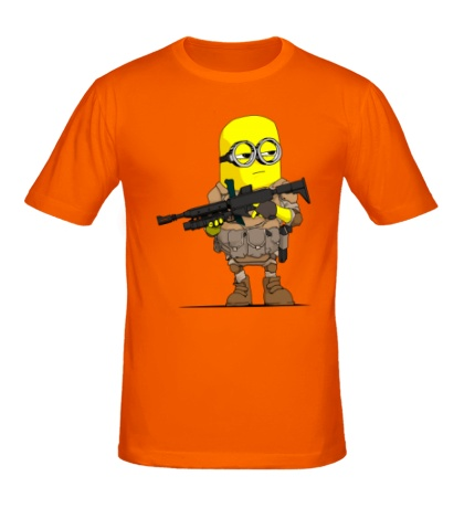 Мужская футболка Миньон Солдат