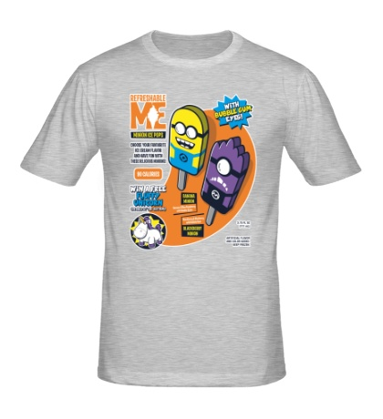 Мужская футболка Мороженное с миньонами