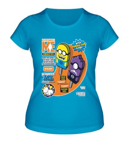 Женская футболка Мороженное с миньонами