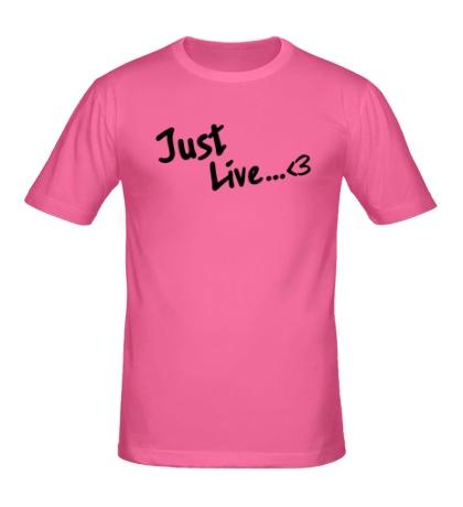 Мужская футболка Just Live