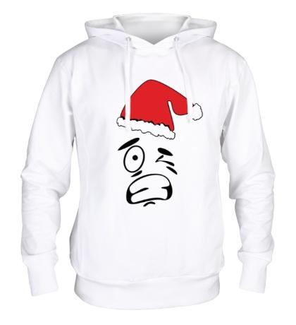 Толстовка с капюшоном Смайл Дед Мороз