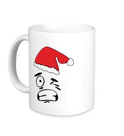 Керамическая кружка Смайл Дед Мороз